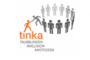Logo TINKA - Taubblindeninklusion anstossen