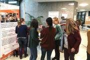Voller DGFT-Infostand bei der Arbeitsagentur in Essen